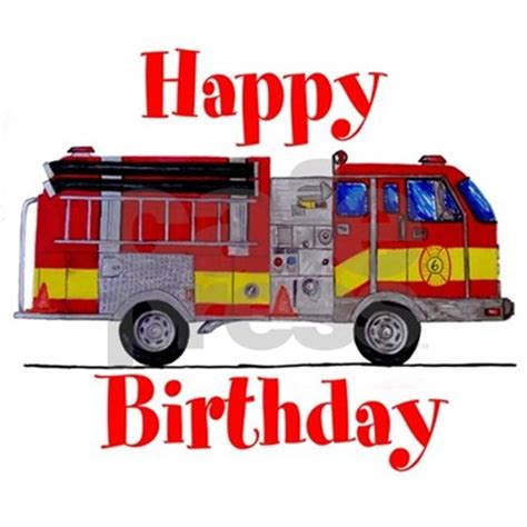 Fire Truck Wall Stickers fire truck birthday card greeting card by markmoore