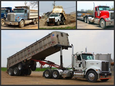 semi truck companies o daniel trucking company dump truck service
