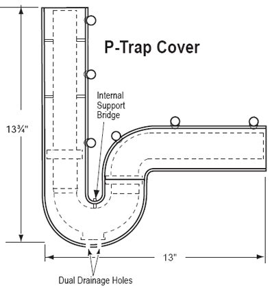 bathroom sink p trap size under sink injury prevention products for the safety of