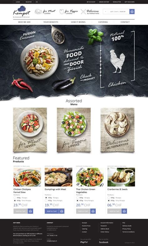 web design inspiration restaurant homemade food in z 252 rich on behance ui web design