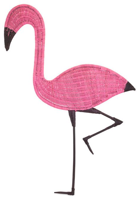 pink flamingo home decor pink flamingo rattan wall decor tropical wall sculptures by ideal furniture irvine
