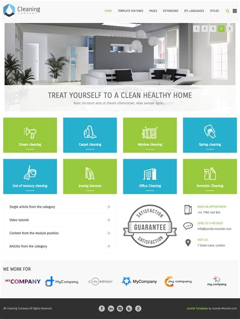 clean joomla templates jm cleaning company joomla template for isp financial