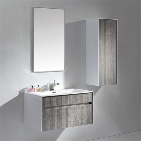 grey designer wall mounted bathroom vanity unit 800 modern