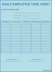 Time Sheet Templates by Official Time Sheet Templates Formal Word Templates