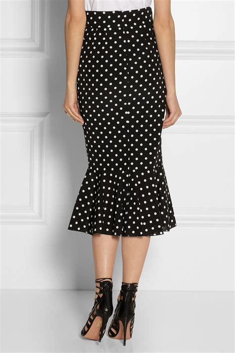 Polka Dot Pencil dolce gabbana polkadot stretchsilk pencil skirt in black