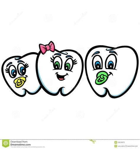 baby teeth stock vector image 53519075