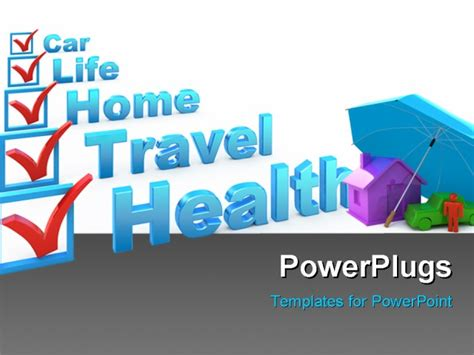 ppt templates for insurance health insurance travel insurance home insurance life