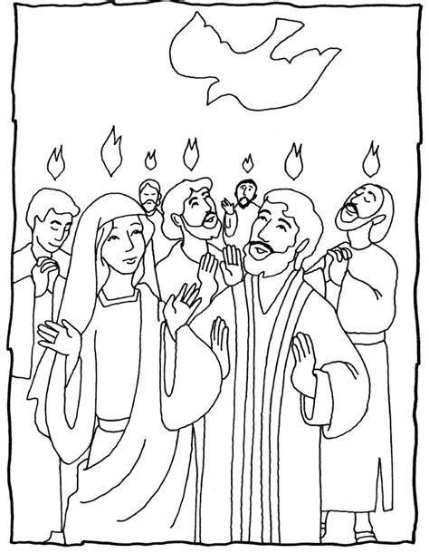 biblische figuren zum ausmalen pentecost several coloring pages great ideas hobbies