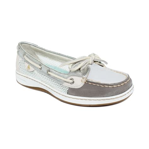 sperrys shoes sperry top sider womens angelfish boat shoes in gray grey