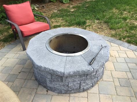 stainless steel fire pit liner fire pit design ideas