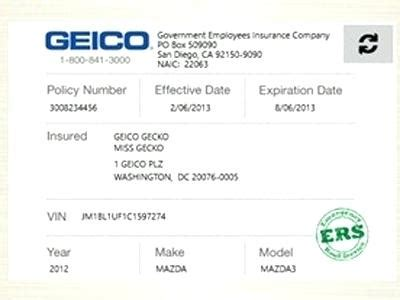 Geico Insurance Template This Story Behind Geico Insurance Free Auto Insurance Card Template