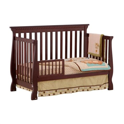 Crib Roll by 4 In 1 Fixed Side Convertible Crib In Cherry 04587 134