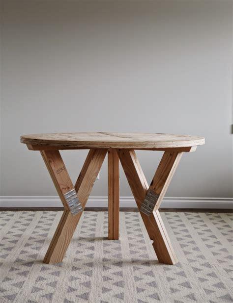 diy wood truss  table  ana white diy