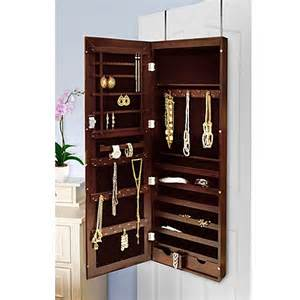 new view the door mirrored jewelry armoire bed bath