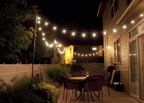 string lighting idea for outdoor deck outdoors pinterest