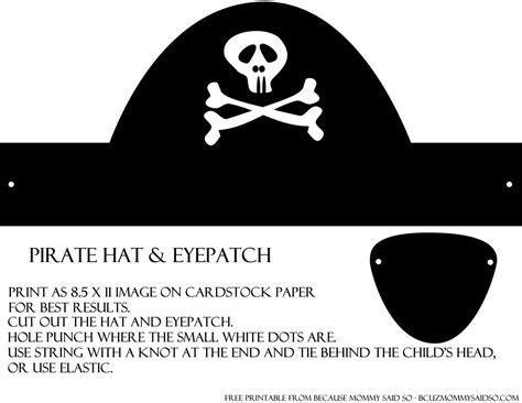 diy pirate hat template pirate hat and eye patch template the sea ariel