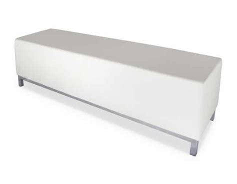 white ottoman bench wollongong party hire white ottoman bench 1 5m