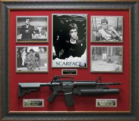 scarface home decor al pacino signed poster framed scarface display le 3 al