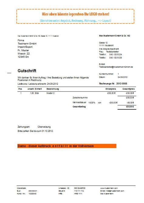 Musterbrief Handwerker In Verzug Setzen Rechnungsprofi Gutschrift Erstellen Gutschriften Schreiben Gutschriften Suchen