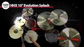 Sabian Solar Splash 10 sabian hhx evolution series splash cymbal 10 in guitar