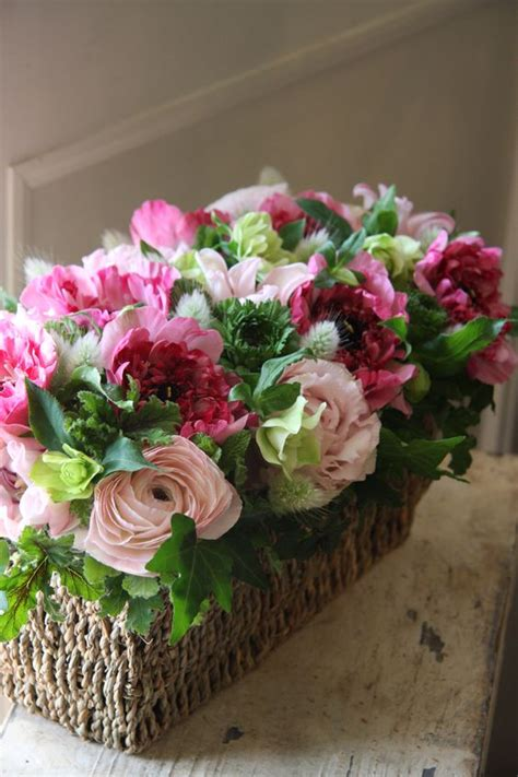 baskets floral arrangements and beautiful on pinterest