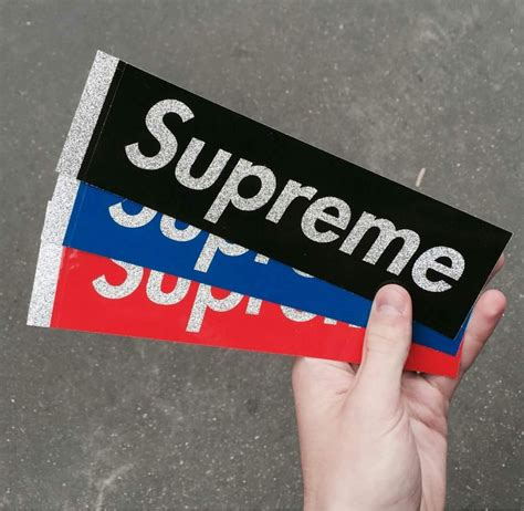 Supreme Stickers Box Logo Original 1 supreme box logo stickers from last drop of ss16 485310 from rbnsprm at klekt