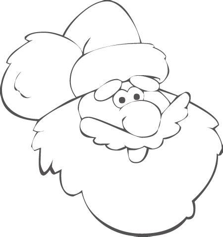 imagenes para dibujar nochebuenas dibujo para colorear navidad cara papa noel