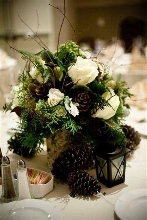 pine cone centerpieces pine cone winter wedding centerpiece wedding ideas