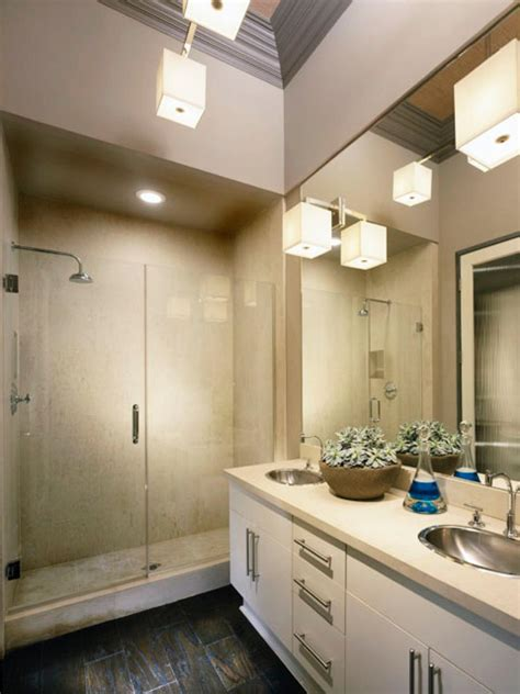 bathroom track lighting ideas designing bathroom lighting hgtv