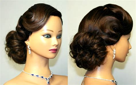 Vintage Hairstyles by Vintage Updo Hairstyle For Medium Hair