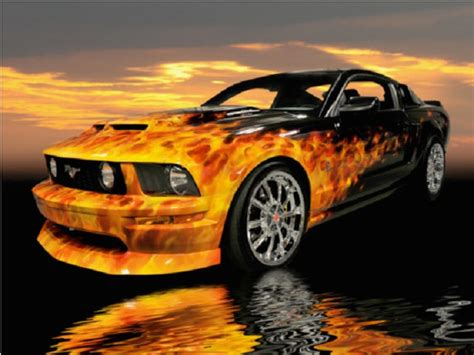 ebay find   day fiery  supercharged mustang gt
