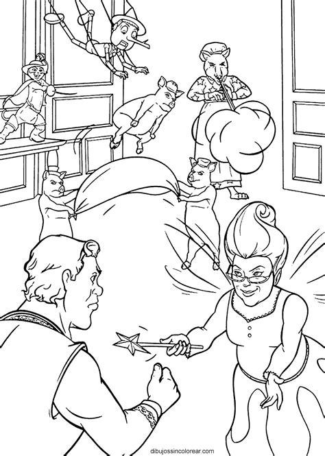 Dibujos Sin Colorear: Dibujos de Personajes de Shrek para