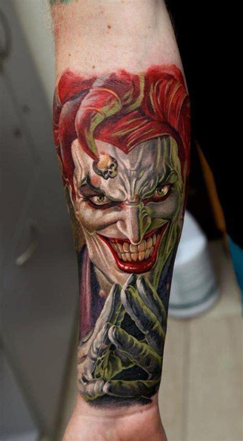 Tattoo Joker Ink | colored ink joker forearm tattoo for women