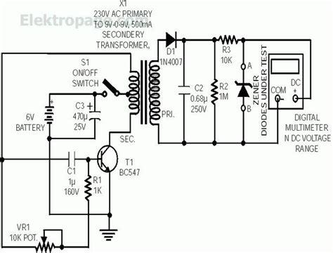 zener diode experiment circuit zener test zener diode tester circuit schematic schematic circuits elektropage