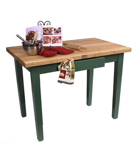 boos classic country work table kitchen island 48 quot x