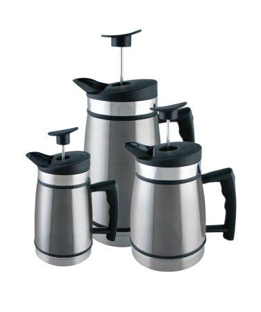 table top press coffee maker stainless