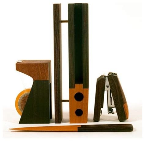 Modern Desk Sets with Singgih Kartono Desk Set Office Modern Desk Accessories By Bobby Berk Home