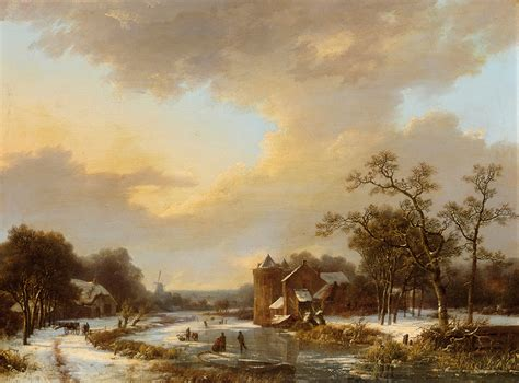 Free Extensive Search File Marinus Adrianus Koekkoek An Extensive River Landscape With Figures On A