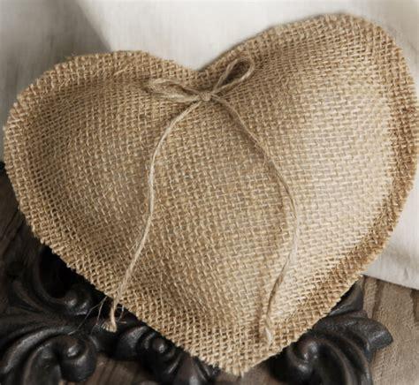 Handmade Ring Bearer Pillow - handmade burlap ring bearer pillow
