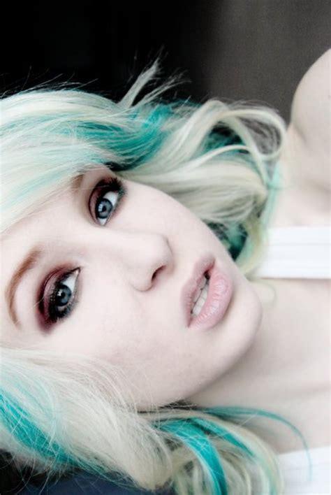 image from http www haircolorsideas com wp content colored hair on pinterest dark green hair splat hair