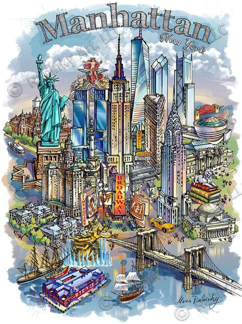 New Illustrations by New York City Theme 2 Cityscape Illustration