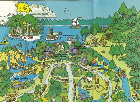 fort wilderness map 1978 fort wilderness resort guide top half of map picture to pin on thepinsta