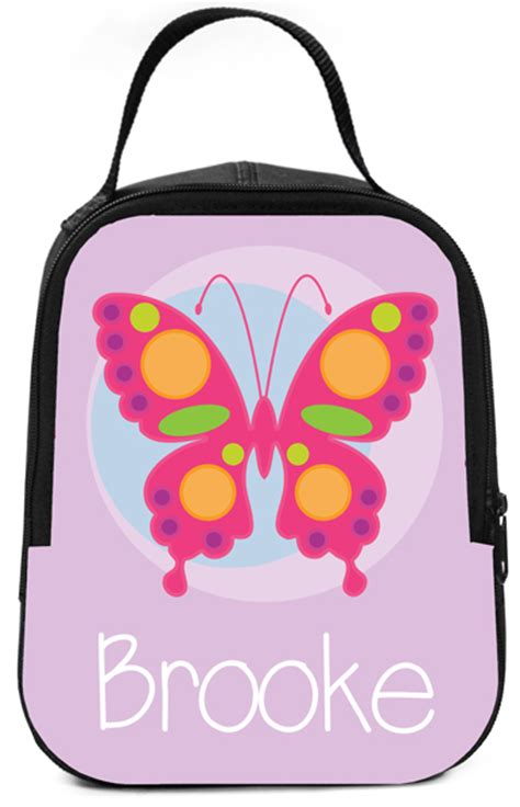 Arvita Lunch Bag Pink Butterfly butterfly lunch box personalized lunch box