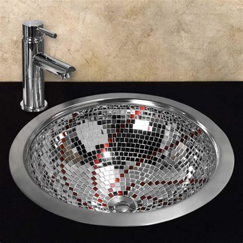 Kaye glass mosaic copper sink