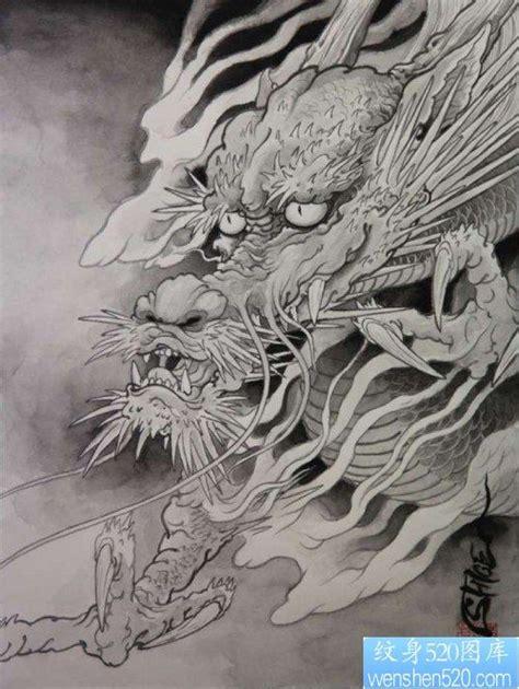 霸气的龙头纹身图案