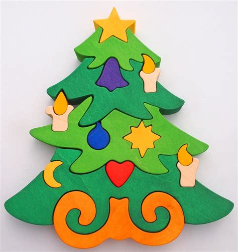 christmas tree puzzle montessori child