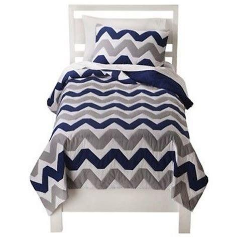 navy blue twin xl comforter chevron 2 pc twin twin xl quilt sham navy blue grey