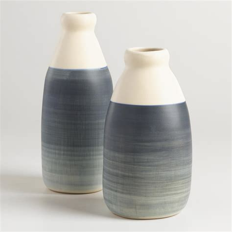 Gray Vases by Ombre Gray Ceramic Vase World Market