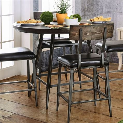 furniture of america dining table furniture of america haliana counter height dining