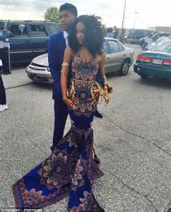 This teen broke teacher s prom fashion rule and wore a gorgeous